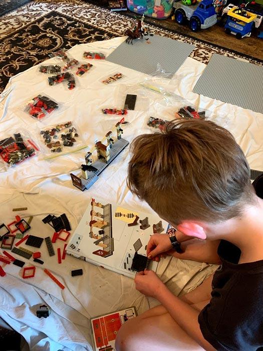 Having fun building Harry Potter Hogwarts Express- LEGO 75955 Playset