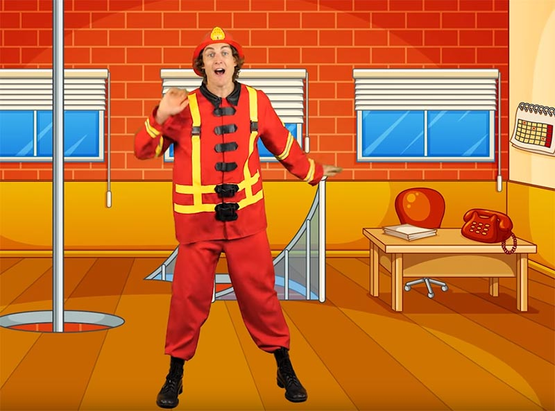 This firefighter is wearing a better outfit to fight fires. Why can't the woman be dressed the same?