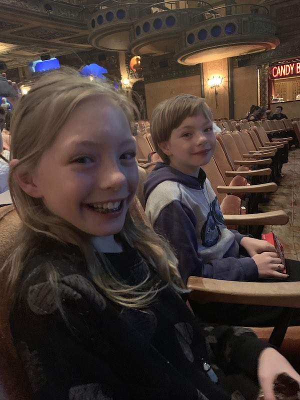 Two very excited kids waiting to see the show! I must say I was excited too!