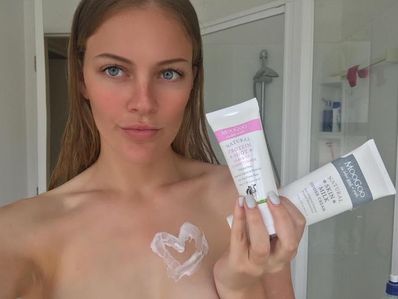 MooGoo ProteinShot leave-in conditioner and MooGoo Skin Milk Udder Cream