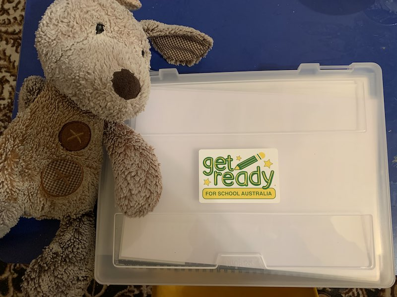 Bark is keen to learn with Get Ready for School Australia too! Alexander loves his new kit too!