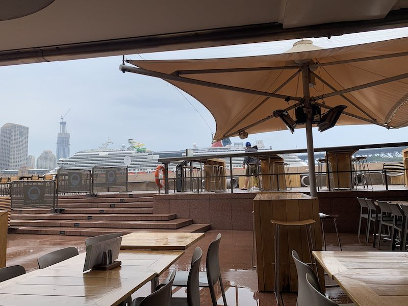 Relaxing at the Opera Bar, Sydney.