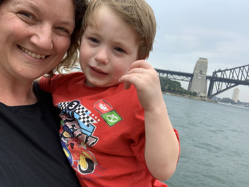 Mummy and Alexander enjoying the harbour