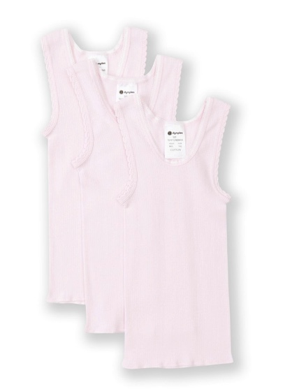 Dymples Baby Vest Set 3 Pack - Light Pink at BigW - $4.50