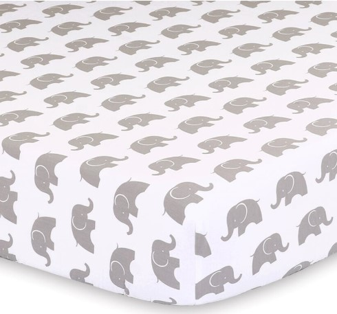 Little Haven Elephant Cot Sheet - Grey from BigW - $16.50