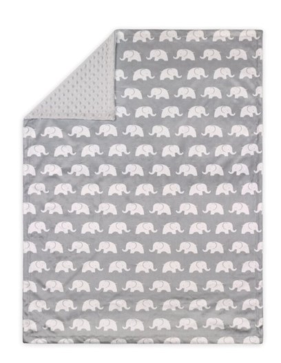 Little Haven Baby Nursery Reversible Blanket Elephant - Grey from BigW - $20.00