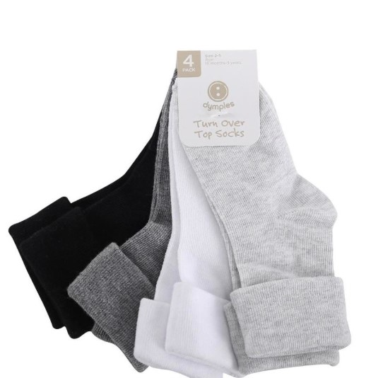 Dymples Baby Cuff Socks 4 Pack - Multi from BigW - $4.00