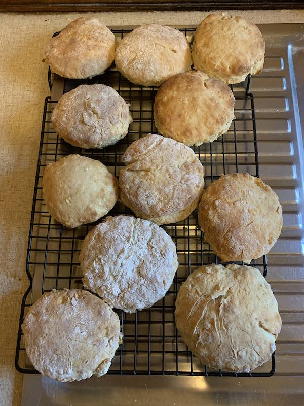 Cooked and cooling down to allow everyone to try some yummy clone scones