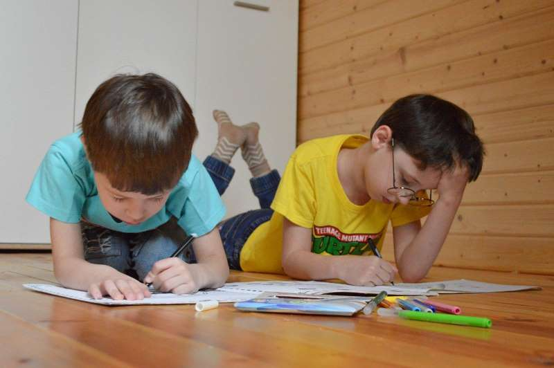 Kids homeschooling due to COVID-19