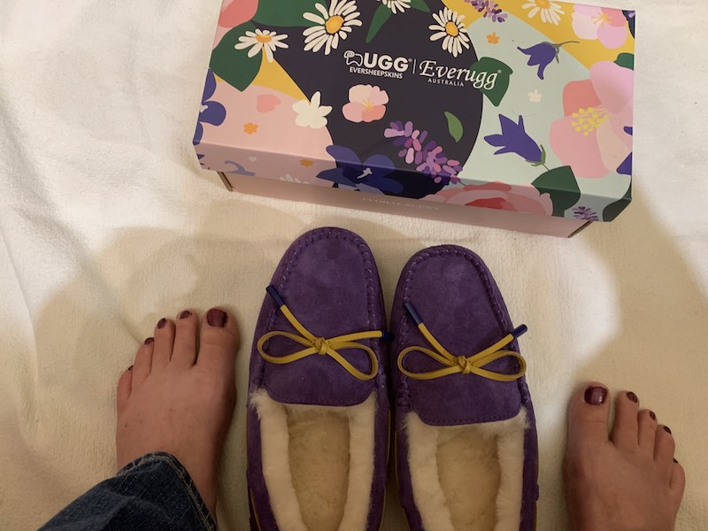 Getting ready to wear my Ever UGG Miracle Moccasin with Special Flower Fragrance