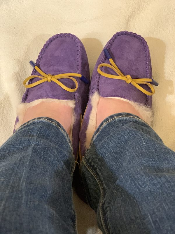 Doesn't the purple colour match my jeans, I love purple what about you?