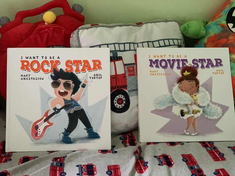 I want to be a Rock Star and I want to be a Movie Star by Mary Mary Anastasiou and illustrations by Anil Tortop