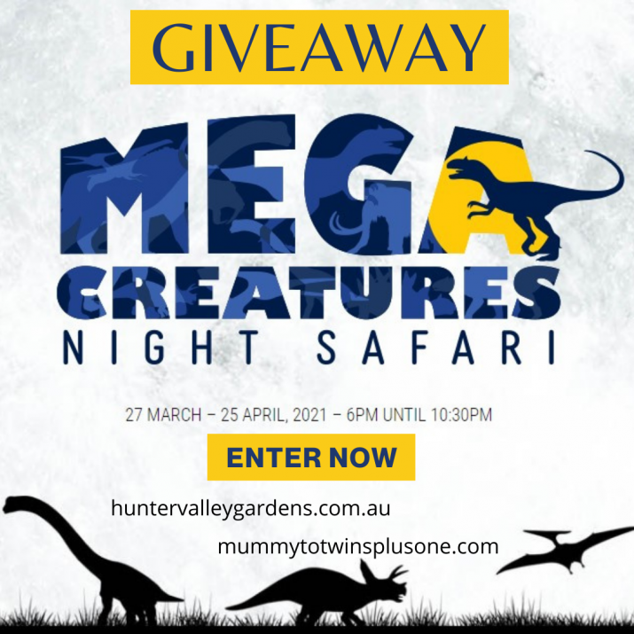 Win a family pass to the Mega Creatures Night Safari in the Hunter Valley